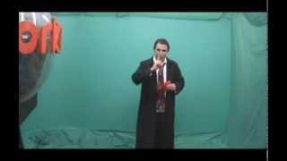 Fantasma aparece ao vivo na gravação do programa Talentos da Web