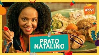Pernil assado com farofa de cebola, vinagrete de tomate e salada de batata   Funcionária do Mês