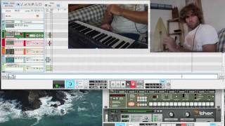 Making Dancehall Beat in 2.5 minutes - Live Looping on REASON