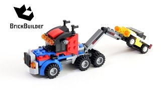 Lego Creator 31033 Tow truck towing a yellow car - Lego Speed Build