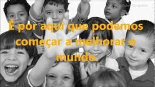 Uma escola, Muitas Culturas - Poema: Escola é. [Paulo Freire] Faculdade Municipal de Palhoça