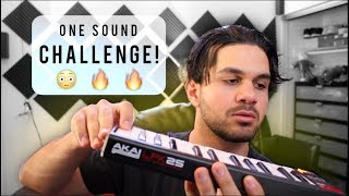 ONE SOUND CHALLENGE!! (making a whole song using one 808)