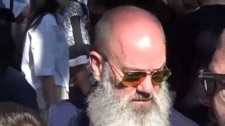 Michael STIPE / singer R.E.M. @ Paris 25 june 2016 Fashion Week show Kenzo / juin