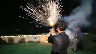 Firing & Fire Work at Wedding of Raja WaQas & Raja Adnan-part-2