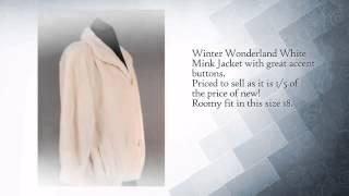 Winter Wonderland White Mink Fur Jacket. Appraised at $5,800! - www.dayfursinc.com