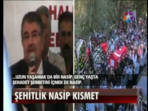 """Içişleri Bakanı idris naim şahin´in IĞDlR´daki saçma """"şehitlik nasip kismet"""" konuşması"""