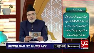 Quote | Hazrat Mujaddid Alf Sani (RA) | Subh E Noor | 6 Nov 2018 | Headlines | 92NewsHD