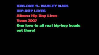 KRS-ONE and MARLEY MARL - Hip Hop Lives (good quality + lyrics)