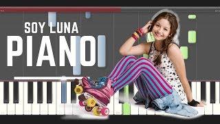 Soy Luna Alla Voy piano midi tutorial sheet partitura cover app karaoke