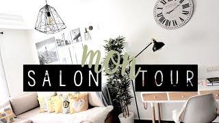SALON TOUR | LIVING ROOM TOUR | BITI  جولة في غرفة المعيشة وأفكارديكورمينيماليست بميزانية قليلة