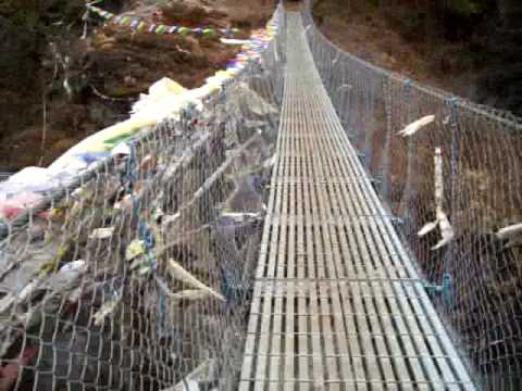Namche bridge, Nepal