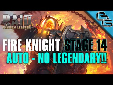 RAID: Shadow Legends | Fire Knight's Castle Stage 14 on Auto | NO LEGENDARY!! | F2P