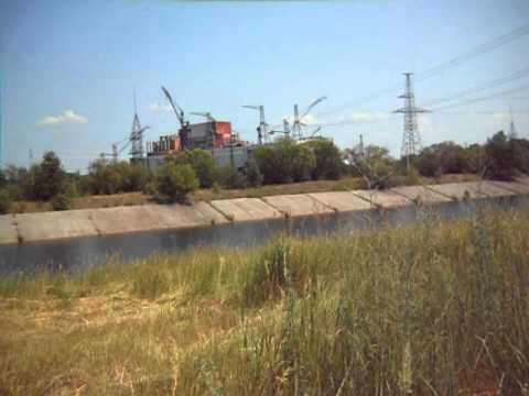 Chernobyl Ukraine June 19 2011 view of reactor 4.
