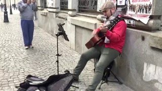 Kansas - Dust in the wind ( Cover by street artist )