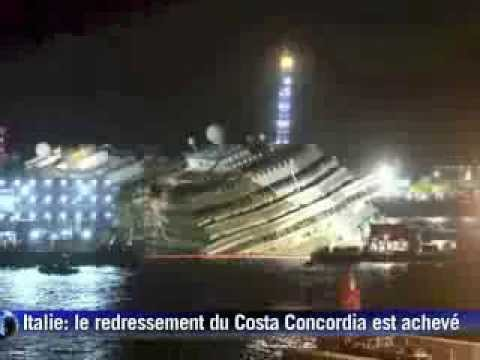Italie: le redressement du Costa Concordia est achevé