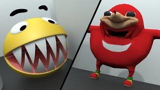 Pacman vs Uganda Knuckles vs Mario and Sonic
