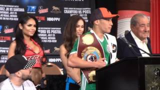 WBO WORLD CHAMPION OSCAR VALDEZ - 'I KNOW IM A TARGET NOW ' {POST FIGHT}  / VALDEZ v RUEDA