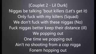 Lacrim - On fait pas ca ft Lil Durk avec Paroles/Lyrics