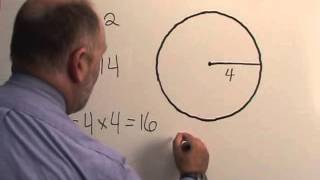 How to calculate the area of a circle