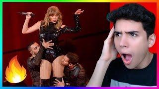 Taylor Swift - I Did Something Bad Live 2018 AMA Reaction (Shocked)