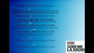Enrique Iglesias  - Súbeme La Radio letra/ Acordes / letra