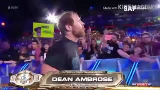 Dean Ambrose entrance with One Crazed Anarchist FOZZY HEEL Theme (Fan-Made)