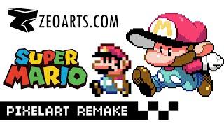 Zeoarts: Super MARIO Pixelart Re-imagined MSPAINT (SUPER MARIO BROS)