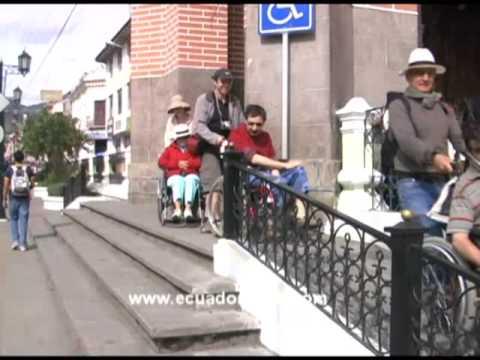 Accessible wheelchair tours in Highlands Amazon of Ecuador  2009
