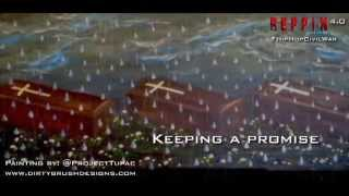 """Tupac Painting """"Teardrops & Closed Caskets"""" with a message"""