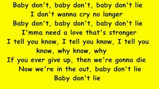 Gwen Stefani -  Baby don't lie (Lyrics Music Video)