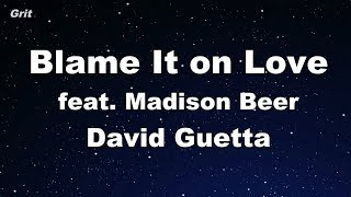 Blame It on Love feat. Madison Beer - David Guetta Karaoke 【No Guide Melody】 Instrumental