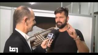 (ENTREVISTA) Ricky Martin en Itália habla con TG1