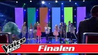 De unge talenter synger: MIKA - We are golden - Voice Junior Danmark - Finalen