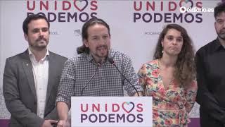 """Pablo Iglesias: """"Toca movilizarse para defender las libertades, la justicia social y la democracia"""""""