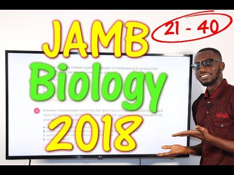 JAMB CBT Biology 2018 Past Questions 21 - 40