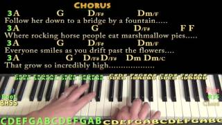 Lucy In the Sky With Diamonds (The Beatles) Piano Cover Lesson with Chords/Lyrics