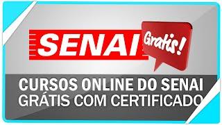 Conheça cursos online gratuitos do SENAI com certificado