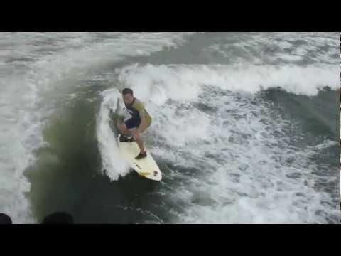vibramfivefingers wake surfing boatsurfing ボートサーフィン ボートから撮影