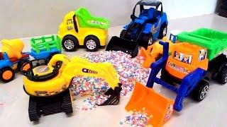 รีวิวของเล่น รถตักดิน รถแม็คโคร รถโม่ปูนพ่วง รถบรรทุก รถแทร็กเตอร์