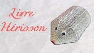 Origami ! Livre hérisson - pliage de livre
