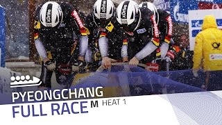 Pyeongchang | BMW IBSF World Cup 2016/2017 - 4-Man Bobsleigh Heat 1 | IBSF Official