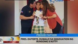 BT: Pres. Duterte, dumalo sa graduation ng bunsong si Kitty