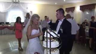 Monika i Łukasz - tort weselny - AMK VIDEO STUDIO