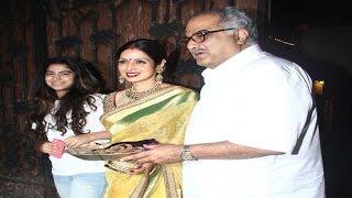 अपने परिवार के साथ करवा चौथ मनाती दिखी श्रीदेवी | Sridevi Karva Chauth Celebration