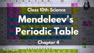 Periodic Classification of Elements - Mendeleev's Periodic table : CBSE Class 10 X Science