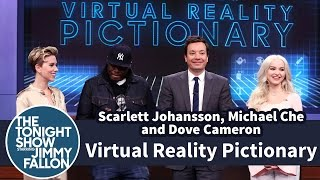 Virtual Reality Pictionary with Scarlett Johansson, Michael Che and Dove Cameron