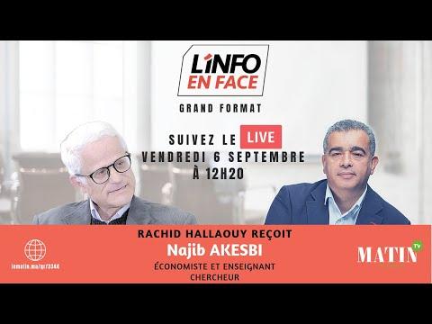 Video : La rentrée économique sur L'info en Face avec Najib Akesbi