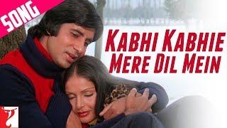 Kabhi Kabhi Mere Dil Mein (Male) Song | Kabhi Kabhie | Amitabh Bachchan | Rakhee | Mukesh