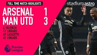Arsenal 1 - 3 Manchester United goals & highlights