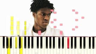 Daniel Caesar - Scream (James Blake Cover) [#reggiewatkins piano synthesia tutorial]